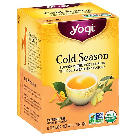 Yogi Herbal Supplement Tea Organic Cold Season - 16 Count
