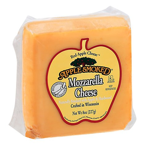 Red Apple Cheese Mozarella Smoked - 8 Oz