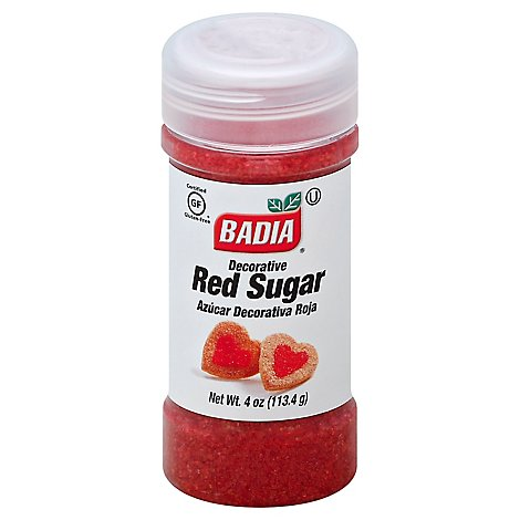 Badia Sugar Gluten-Free Decorative Red - 4 Oz