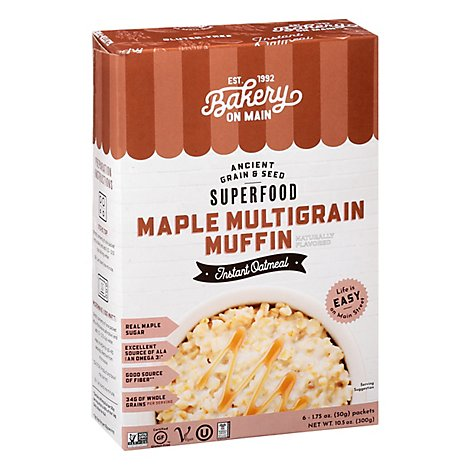 Bakery on Main Oatmeal Instant Maple Multigrain Muffin - 6-1.75 Oz