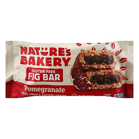 Natures Bakery Fig Bar Gluten Free Pomegranate - 2 Oz