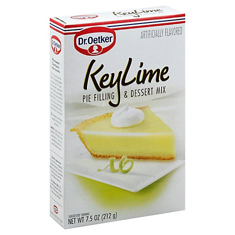 Dr. Oetker Pie Filling And Dessert Mix Key Lime - 7.5 Oz