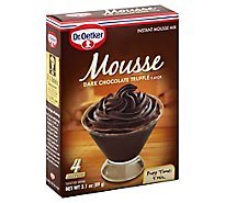 Dr Oetker Mousse Mix Instant Dark Chocolate Truffle Flavor - 3.1 Oz