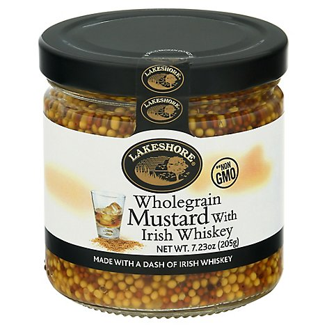 Lakeshore Mustard Wholegrain With Irish Whiskey - 7.23 Oz