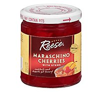 Reese Cherries Maraschino with Stems Red - 10 Oz