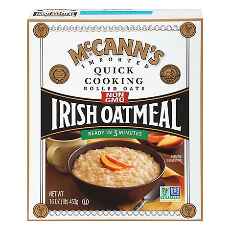 McCanns Oatmeal Irish Quick Cooking Rolled Oats - 16 Oz