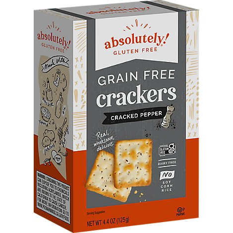 Absolutely Crackers Gluten Free Cracked Pepper Box - 4.4 Oz