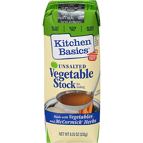 Kitchen Basics Vegetable Stock Unsalted - 8.25 Fl. Oz.