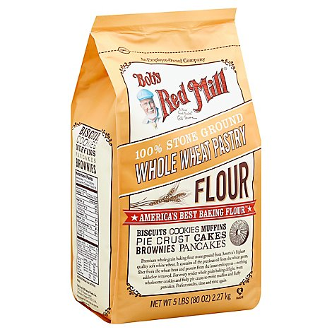 Bobs Red Mill Flour Whole Wheat Pastry Stone Ground - 5 Lb