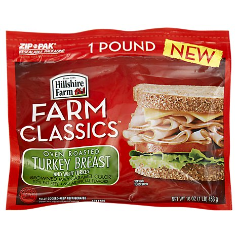 Hillshire Farm Farm Classics Turkey Breast And Turkey White Oven Roasted - 16 Oz