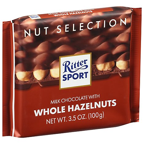 Ritter Sport Milk Chocolate with Whole Hazelnuts - 3.5 Oz