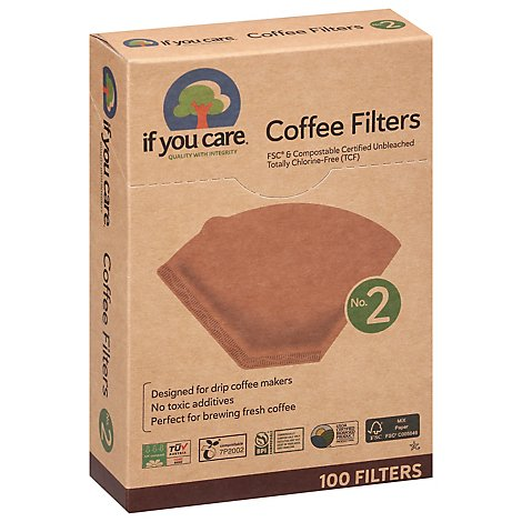 If You Care Coffee Filters Quality With Integrity No. 2 Size - 100 Count