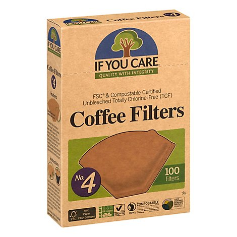 If You Care Coffee Filters Quality With Integrity No. 4 Size - 100 Count