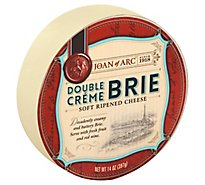 Joan Of Arc Cheese Soft Ripened Double Creme Brie - 14 Oz