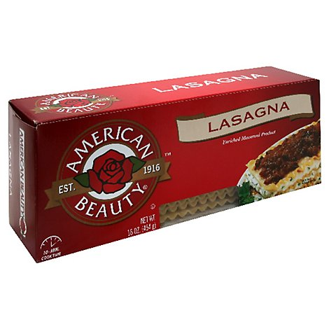 American Beauty Pasta Lasagna - 16 Oz