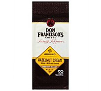 Don Franciscos Coffee Family Reserve Coffee Ground Medium Roast Hazelnut Cream - 12 Oz