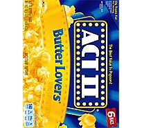 ACT II Microwave Popcorn Butter Lovers - 6-2.75 Oz