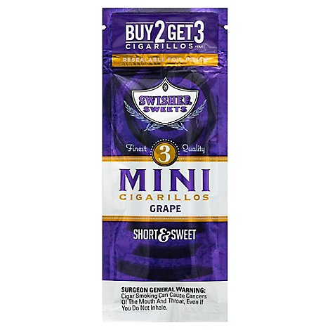 Swisher Sweets Cigarillos Mini Grape - 3 Package