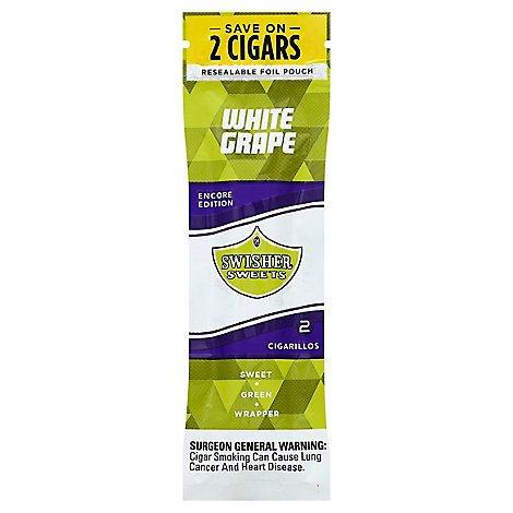 Swisher Sweets Cigarillos White Grape - 2 Package