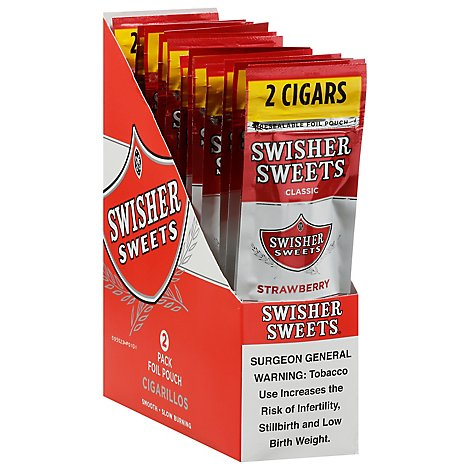 Swisher Sweets Cigarillos Strawberry - 2 Count