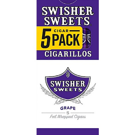 Swisher Sweets Cigarillos Grape - 5 Count
