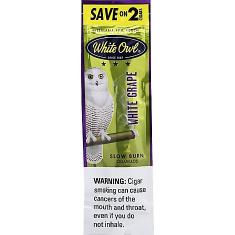 White Owl White Grape Cigarillo - 2 Package