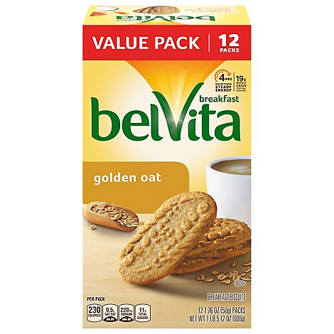 belVita Breakfast Biscuits Golden Oat Value Pack - 12-1.76 Oz