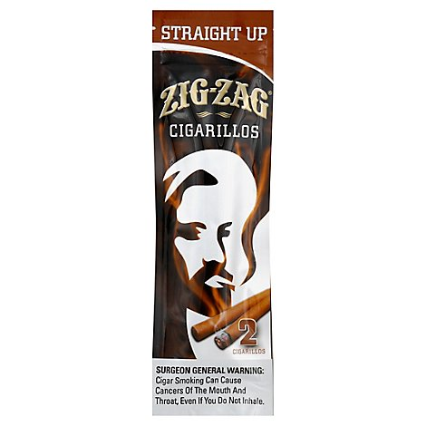 Zig Zag Cigarillos Straight Up - 2 Package
