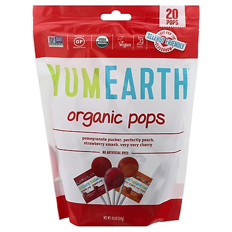 Yumearth Lollipop Pop Organic - 4.2 Oz