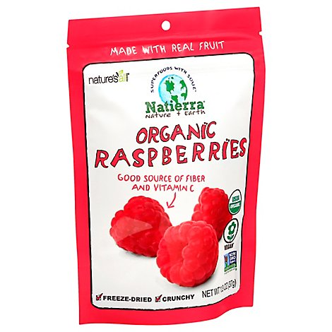 Natures All Foods Organic Raspberries Freeze-Dried - 1.3 Oz