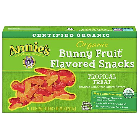 Annies Homegrown Organic Fruit Snacks Bunny Tropical Treat - 5-0.8 Oz