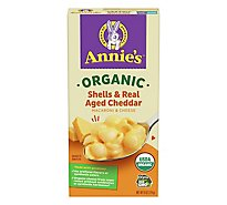 Annies Homegrown Organic Macaroni & Cheese Shells & Real Aged Cheddar Box - 6 Oz