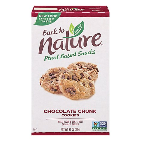 back to NATURE Cookies Chocolate Chunk - 6 Oz