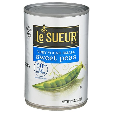 Le Sueur Peas Sweet Very Young Small 50% Less Sodium - 15 Oz