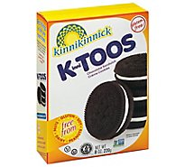 Kinnitoos Cream Chocolate Sandwich Cookies - 8 Oz