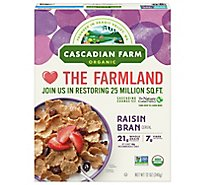 Cascadian Farm Organic Cereal Raisin Bran - 12 Oz