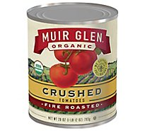 Muir Glen Tomatoes Organic Crushed Fire Rosted - 28 Oz