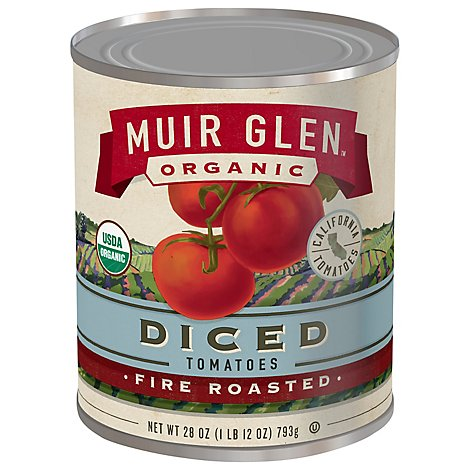 Muir Glen Tomatoes Organic Diced Fire Rosted - 28 Oz