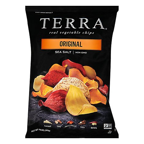 TERRA Vegetable Chips Original Sea Salt Bag - 6.8 Oz