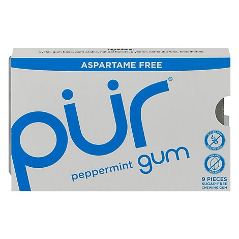 Prgum Gum Peppermint Sugar-Free - 9 Count
