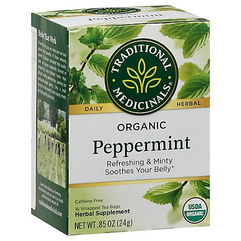 Traditional Medicinals Herbal Tea Organic Peppermint - 16 Count