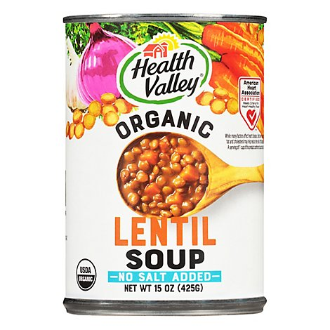 Health Valley Organic Soup No Salt Added Lentil - 15 Oz