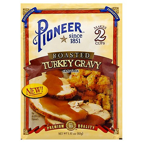 Pioneer Gravy Mix Roasted Turkey Gravy Premium Quality - 1.41 Oz