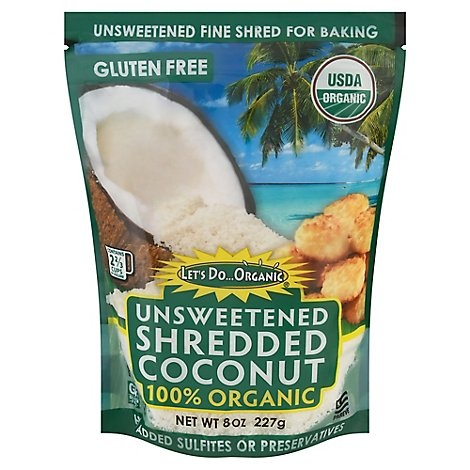 Lets Do Organics Coconut Shred Unswtn Org - 8 Oz