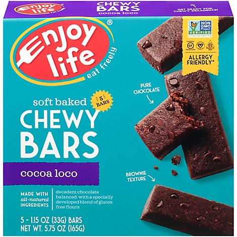 enjoy life Chewy Bars Baked Cocoa Loco - 5-1 Oz
