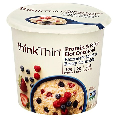 thinkTHIN Oatmeal Hot Protein & Fiber Farmers Market Berry Crumble - 1.76 Oz