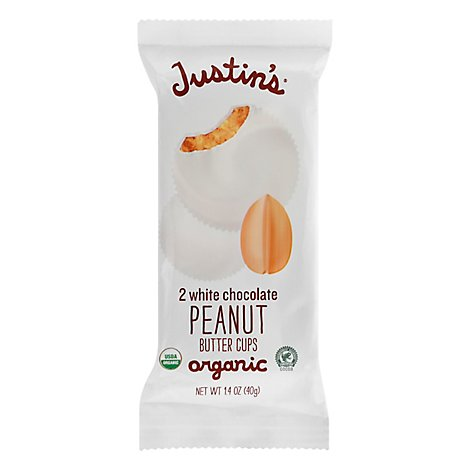 Justins Peanut Butter Cups White Chocolate - 1.4 Oz