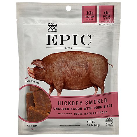 EPIC Bites Bacon Uncured Pork & Sea Salt - 2.5 Oz