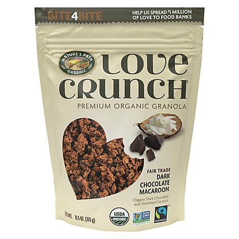 Natures Path Organic Love Crunch Granola Dark Chocolate Macaroon - 11.5 Oz