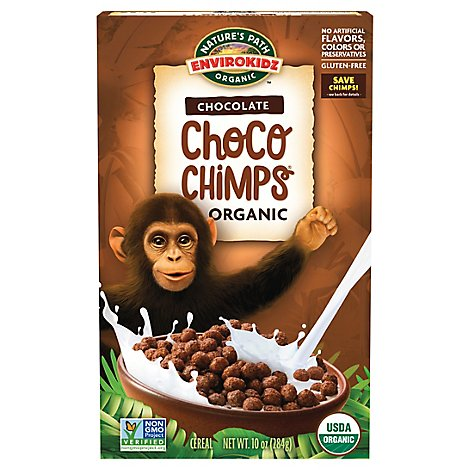 Natures Path EnviroKidz Organic Cereal Choco Chimps Chocolate - 10 Oz